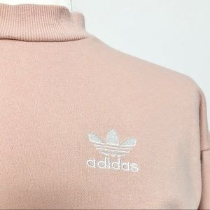 adidas Dresses - Adidas Past CR Pink Sweatshirt Dress Trefoil S